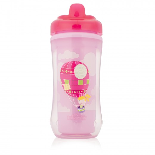 Dr. Brown's Hard-Spout Insulated Cup Pink Balloon-12m+