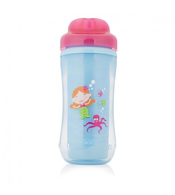 Dr. Brown's Spoutless Insulated Cup - Mermaid 10 oz / 300 ml