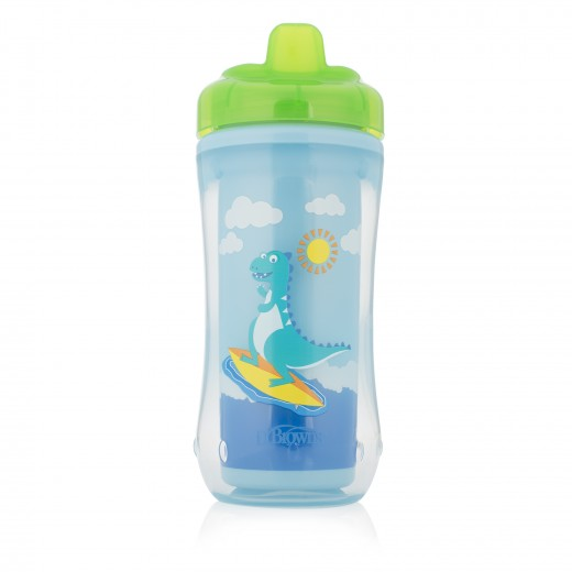 Dr. Brown's Hard-Spout Insulated Cup Blue Dino - 12+ Months