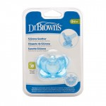 Dr. Brown's One Piece Silicone Soother, Blue