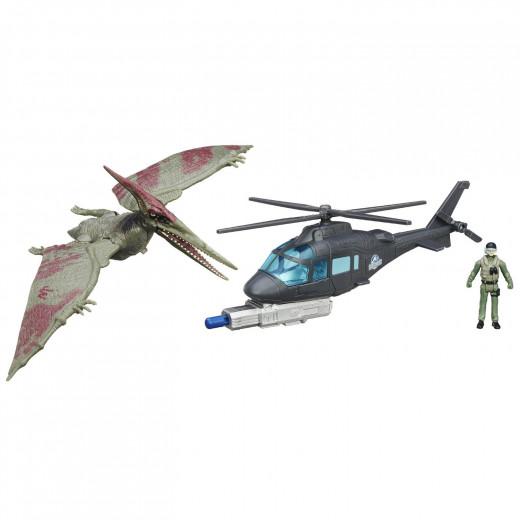 Jurassic World Pteranodon vs. Helicopter Pack