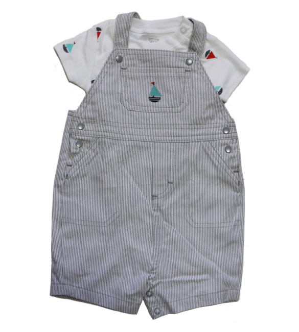Carters 2-Pack Short-Sleeve Bodysuits, Newborn And 12 Months
