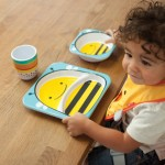 Skip Hop Zoo Melamine Plate and Bowl Set - Bee