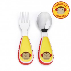 Skip Hop Zootensils Fork And Spoon - Monkey