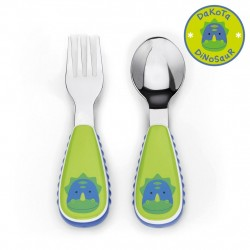 Skip Hop Zootensils Fork And Spoon - Dino