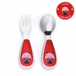 Skip Hop Zootensils Fork And Spoon - LadyBug