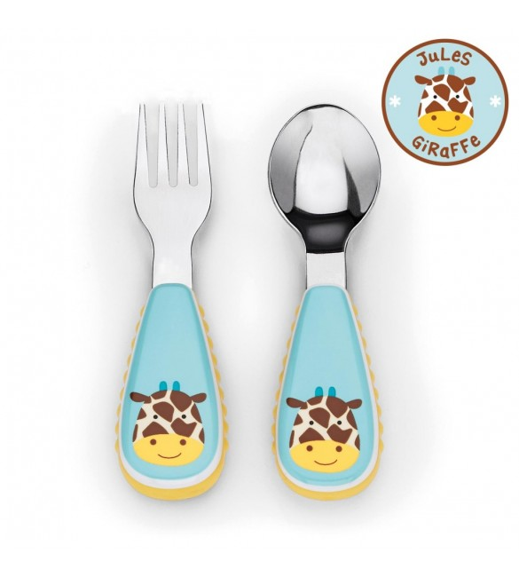 Skip Hop Zootensils Fork And Spoon - Giraffe