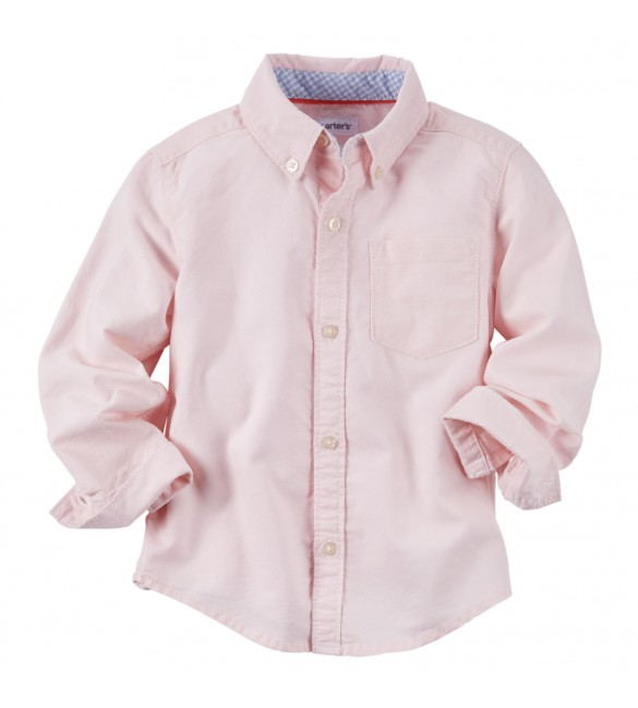 Carter's Button-Front Oxford Shirt, 6 Months & 9 Months