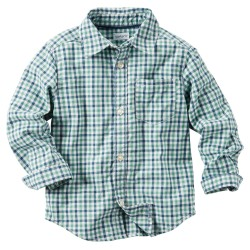 Carter's Plaid Button-Front Shirt, 5 Years, 6 Years