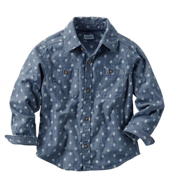 Carter's Printed Chambray Button-Front Shirt, 18 Months & 2 Years