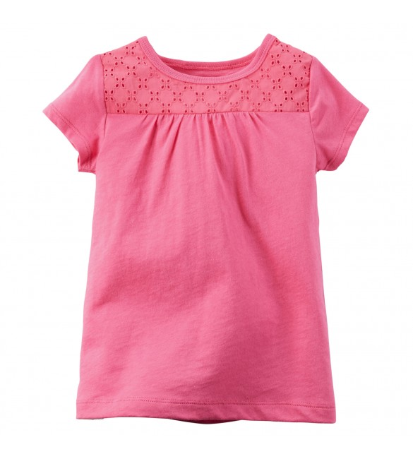 Carter's Eyelet Lace Tee 4 Years And 6 Years