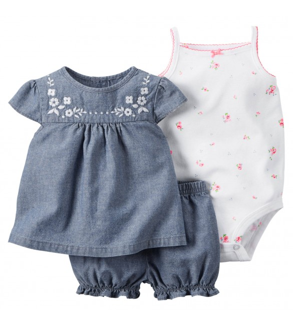 Carter's 3-Piece Bodysuit & Diaper Cover Set,  2 Years