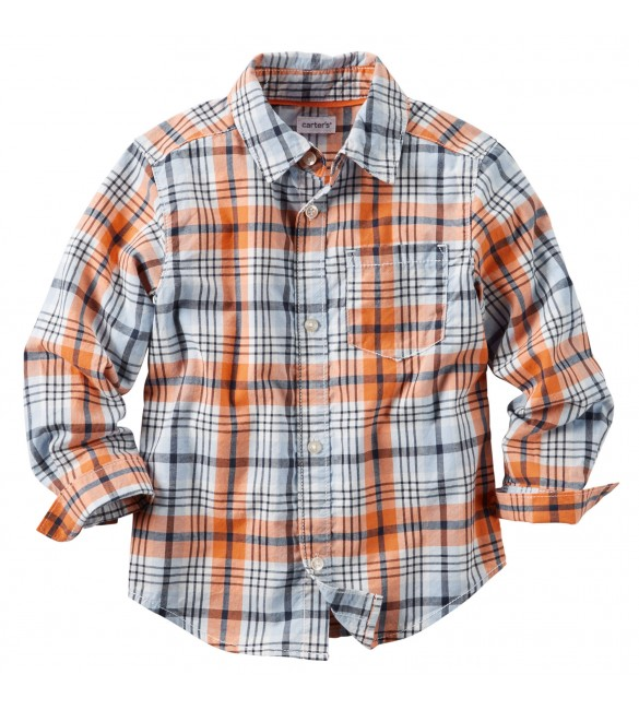Carter's Plaid Button-Front Shirt, 6 Years