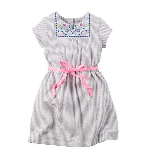 Carter's Embroidered Jersey Dress, 4 Years