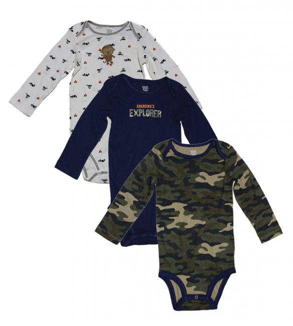 3-Pack Short-Sleeve Bodysuits,  2 Years