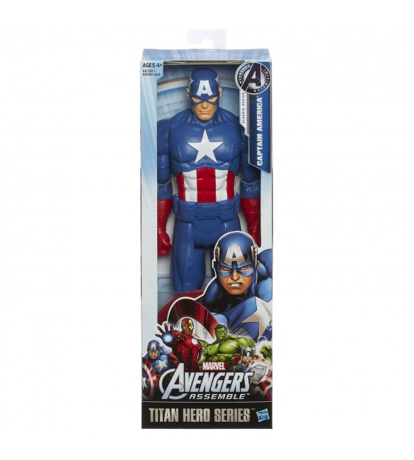 Marvel Avengers Assemble Titan Hero Series Captain America Figure, 12-Inch