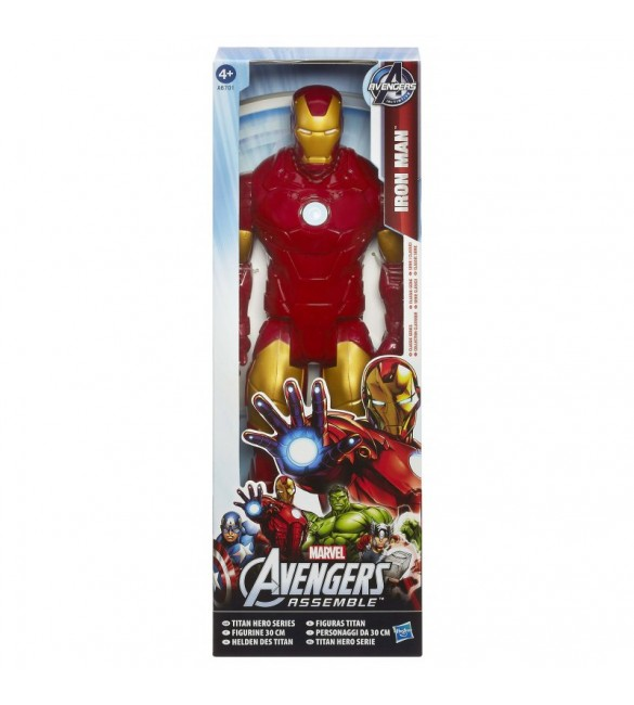 Marvel Avengers Assemble Titan Hero Series Iron Man Figure, 12-Inch