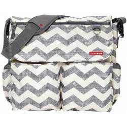 Skip Hop Dash Messenger Diaper Bag, Chevron