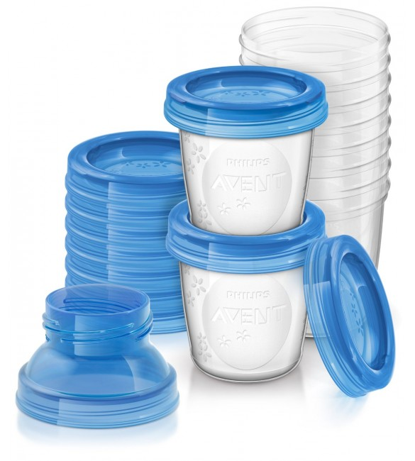 Philips Avent Reusable Breast Milk Storage Cups - Pack of 10