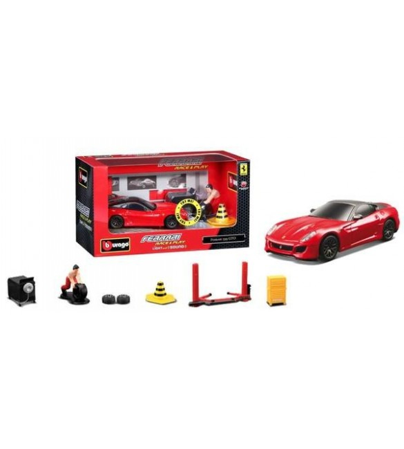 FERRARI RACING LIGHT ANDSOUND CARS - WINDOW BOX-A