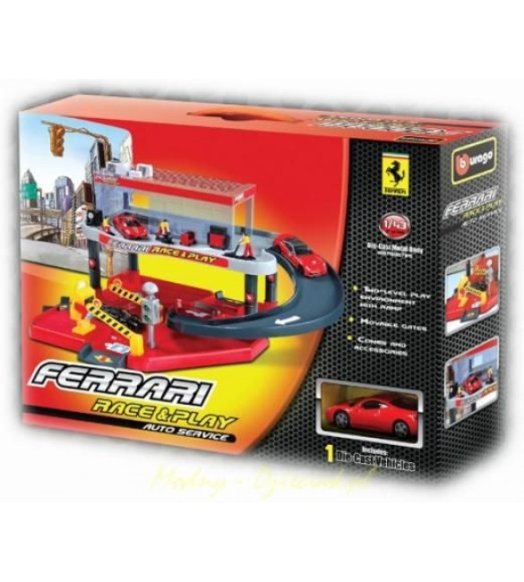 FERRARI RACE AND PLAY AUTO SERVICE SET + 1 CAR