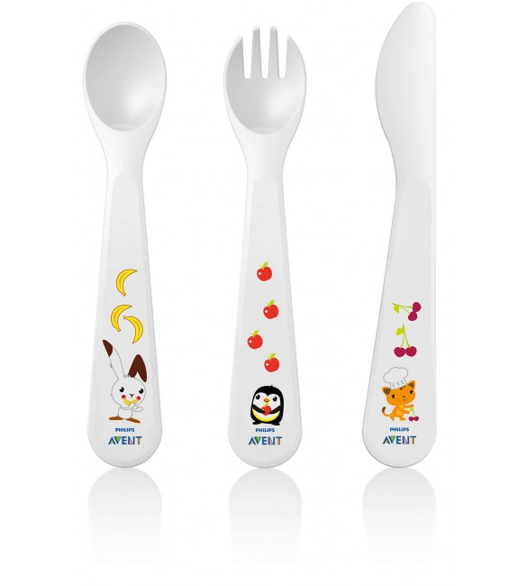 Philips Avent Toddler Fork, Spoon And Knife  (18M+)