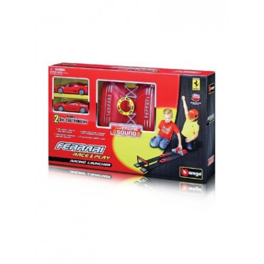 FERRARI RACE AND PLAY RACING LAUNCHER +2 CARS-ASST