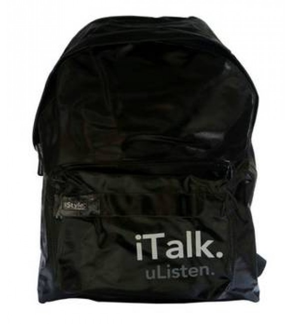ISTYLE BLACK Backpack NEW AM/AC 16