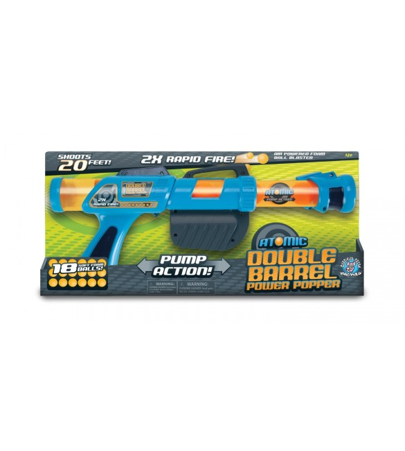 Hog Wild Atomic Double Barrel Power Popper Foam Battle Toy