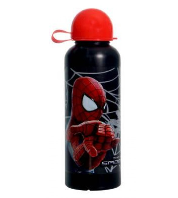 Spider man Plastic Bottle - Black