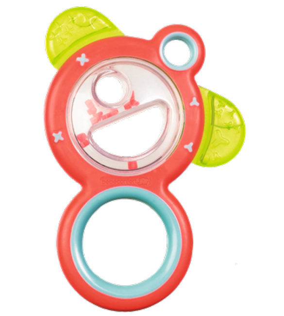 Bébé Confort  Teething ring rattle/ red