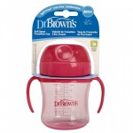 Dr. Brown's Training Cup 180 ML Pink 6m+