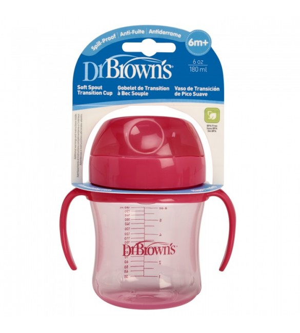 Dr Brown's TRAINING CUP 180 ML pink