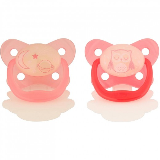 Dr. Brown's Glow-in-the-Dark Pacifier / Stage 2, 6-12 Months (Pink Owl)