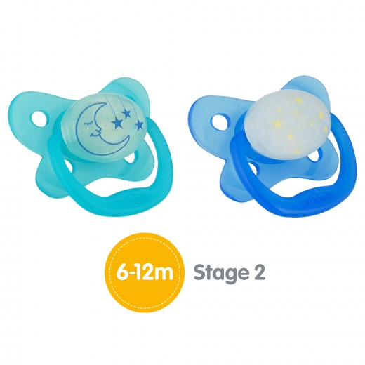 Dr. Brown's Glow-in-the-Dark Pacifier Stage 2, (6-12 Months)