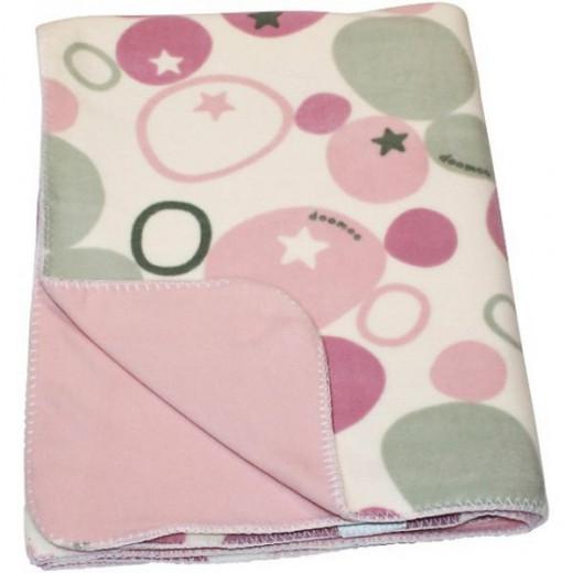 Doomoo Dream Baby Fleece Blanket (150 x 100 cm, stones  pink )