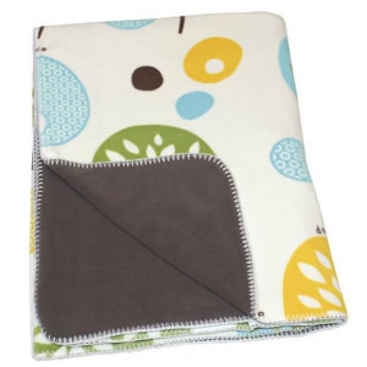 Doomoo Dream Baby Fleece Blanket (150 x 100 cm,tree lemon )
