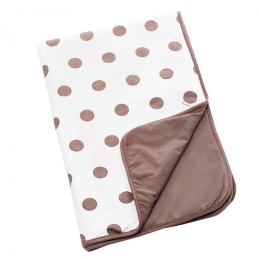 Doomoo Dream Baby Cotton Blanket (100 x 75 cm, Dots Taupe )