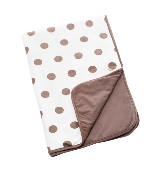 Doomoo Dream Baby Cotton Blanket (100 x 75 cm, Dots Taupe )