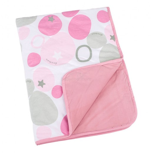 Doomoo Dream Baby Cotton Blanket (100 x 75 cm, Stones Pink)