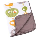Doomoo Dream Baby Cotton Blanket (100 x 75 cm, Bird Kaki)