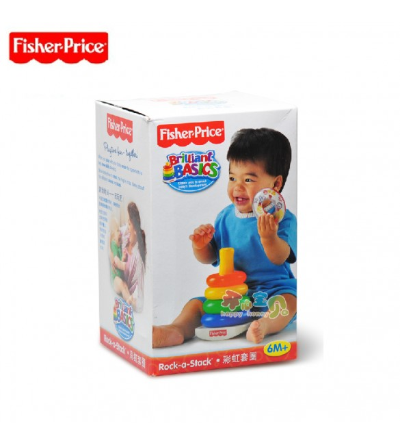 Fisher Price Baby Toys Rainbow Rings