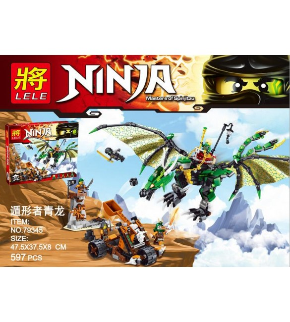 The Green NRG Dragon Toys Action Figures Minifigures Building Block Toys