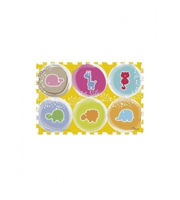 Chicco - Soft Puzzle Mat Animals 6 pcs