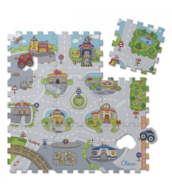Chicco - Soft Puzzle Mat City 9 pcs