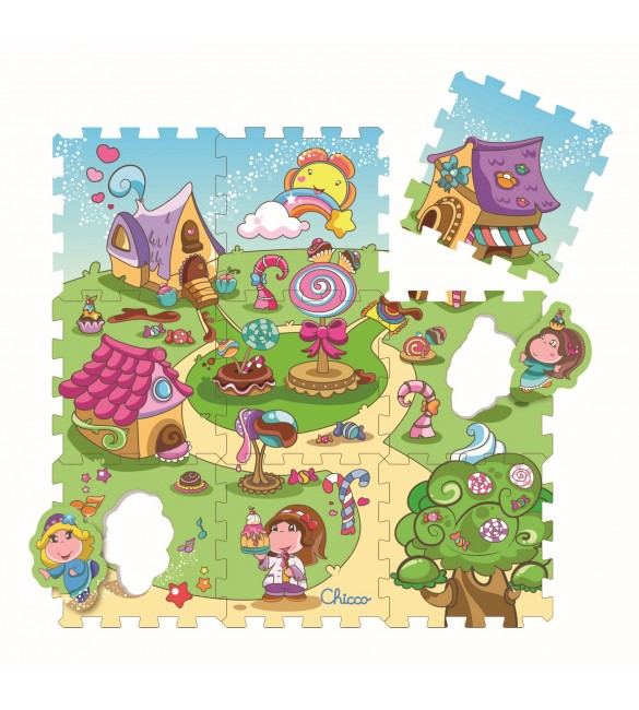 Chicco - Soft Puzzle Mat Candy 9 pcs