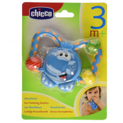 Chicco- 20.5 Cm Fun Teething Rattle Elephant Teething Toy
