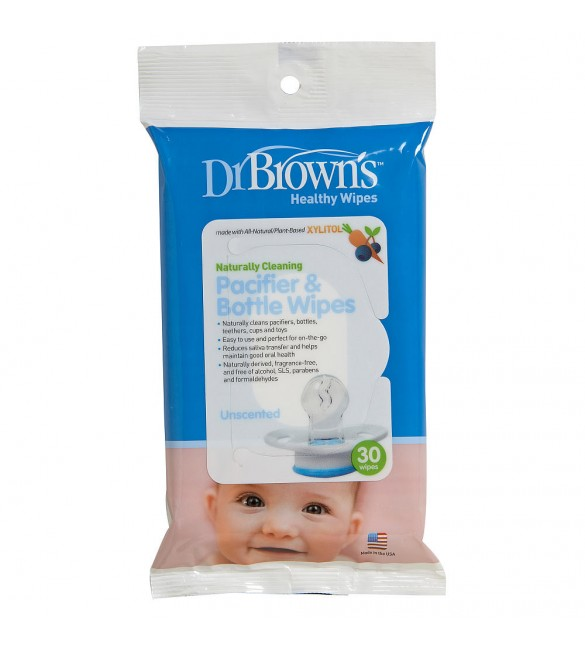 Dr Brown's  30 PACIFIER & Bottle WIPES (HG003)