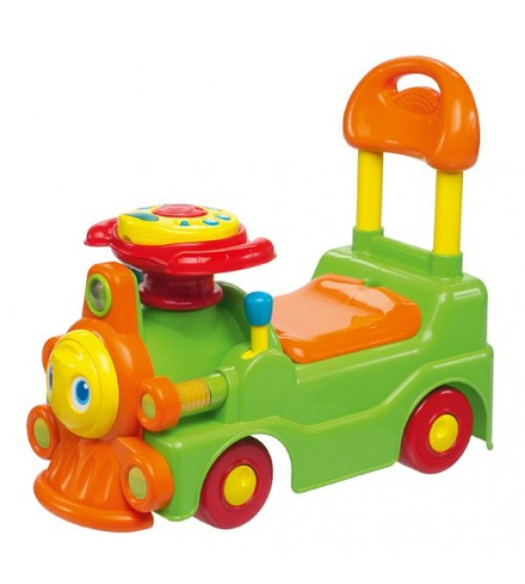 Chicco - Green and Orange New Loco Train Sit N Ride