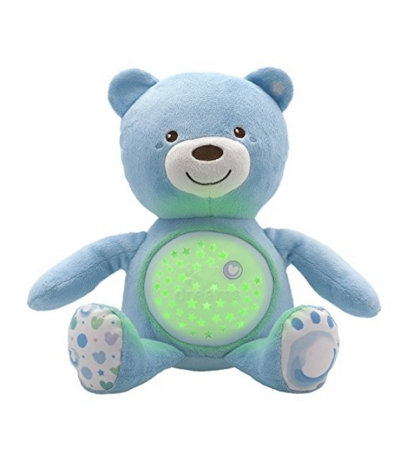 Chicco First Dreams Baby Bear Night Projector - Blue.